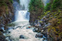 kayaker waterfall On Beach Wallpapers 1459