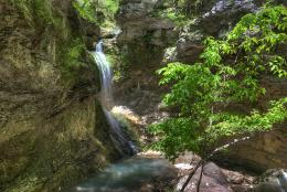 Eden Falls can be found in northwest Arkansas's Lost Valley, which 869
