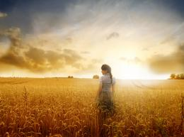 Portfolio Layout 4 Woman in a wheat field at sunset 1681