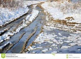 Winter Snowy Road Through Frozen Forest Stock PhotosImage: 17620563 1274