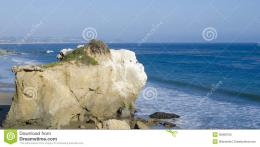 Nice rock on one of the most beautiful and popular beaches of Malibu 1244