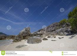 Beautiful beach and rocky coastSimilan islands, Thailand 1058