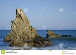 Nice rock on one of the most beautiful and popular beaches of Malibu 475