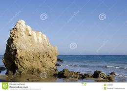 Nice rock on one of the most beautiful and popular beaches of Malibu 271