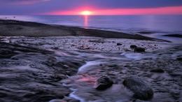 Wonderful pink sunset over lake superior 1280x720 1044