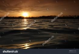 wonderful sunset over the lake 994