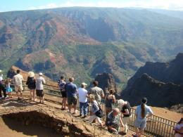 view Waimea Canyon on the island of Kauai, HawaiiThe natural wonder 1343