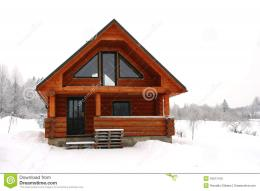 Wooden Cottage In A Snowy Place Royalty Free Stock PhotoImage 1544