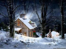 Snowy christmas cabin, Snowy Cottage wallpaperForWallpaper com 195
