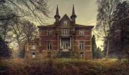 Old abandoned English Manor House with the ghosts of the past 490