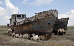 Abandoned ships in Kazakhstan\'s Aral Sea are still very useful [1920 x 1288