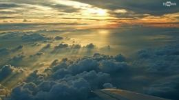 sunset above the clouds hd wallpaper 989