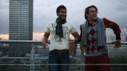 """Salman Khan and Ajay Devgan in the movie London Dreams\""38590 1533"
