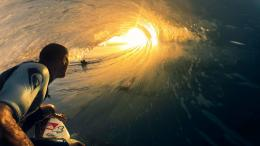 Surfer Surfing Wave Ocean Sunset Sunlight wallpaper | 1920x1080 243
