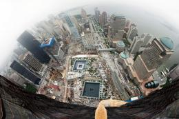 STRANGE TRAVELSAMAZING VIEW NEW YORK CITYLOOK DOWN FROM NEW 1733