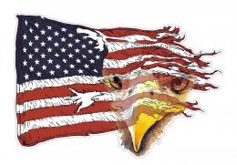 HomeAmerican EaglesWeathered American Flag Eagle Decal 1839