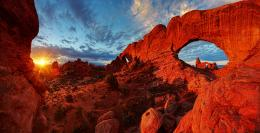 2,000 natural sandstone arches, like the world famous Delicate Arch 1950