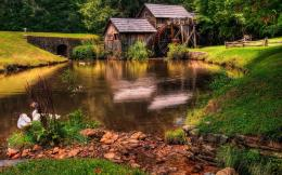 Beautiful old mill Wallpaper 12Landscape Wallpapersfree desktop 1947