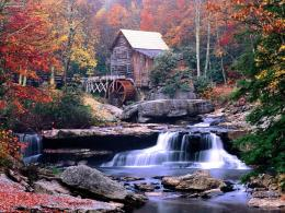 Known places: Glade Creek Grist Mill Babcock State Park West Virginia 1995