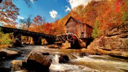 Autumn Water Mill wallpaper | 1920x1080 | 58375 | WallpaperUP 511