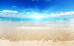 Beautiful Beach And Blue Sky Wallpaper Backgro #5541 Wallpaper | High 844