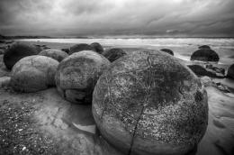 Moeraki Boulders on the koekohe beach eastern coast of new zealand 555