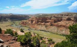 Picture of the Colorado River, Black Rocks, and Wild Horse Mesa 1491