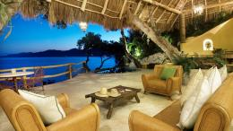Caribbean bliss living room shore sea open HD Wallpaper 1715