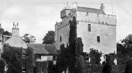 old photograph of kames castle near port bannatyne isle of bute 1140