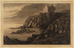 Lady Douglas'Dunskie Castle near Port Patrick', date not known 1591