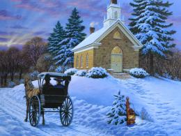 Similar wallpapers for Church in winter painting 1919