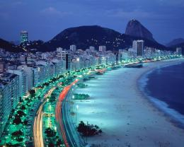 Download Brazil coast in the night wallpaper in CityWorld 741