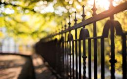 fence, summer, photo, city, bokeh light, macro, background, fullscreen 1437