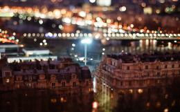 city night buildings tilt shift bokeh photo 1333
