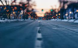 nature tags nature city street road lights winter landscapes bokeh 1387