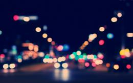 city, night, street, lights, color bokeh, photo, art, london 1784