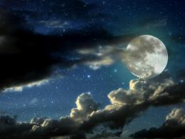 Download Cloudy moon wallpaper in Space wallpapers with all 1300