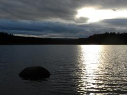 Taken on a grey and gloomy day at Timothy LakeAt dusk, the clouds 425