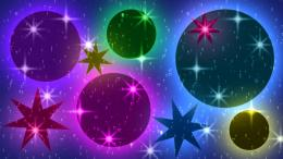 Brightly Glowing Globes and Stars | Free Wallpaper 584
