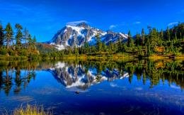 Wallpapers ⇒ Landscape ⇒ Mountain Lake Background 1313