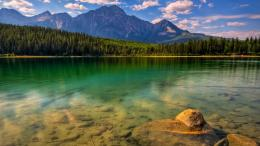Wilderness, beautiful, clouds, forest, green, lake, mountains, nature 969