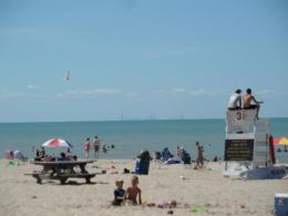 Photo of At the Dune Park beach with Chicago skyline on the horizon 1080