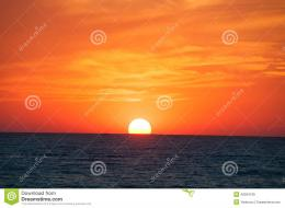 Orange Sunset On The Sea HorizonStock PhotoImage: 40034139 1935