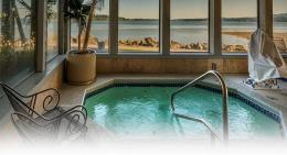 hot tub with an ocean view and the Best Western Silverdale Beach hotel 149
