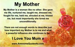 Awesome Quotes: I Love You Mum x 1246
