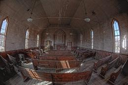 Bodie State Park, inside the old Methodist churchHDR| Flickr 1009