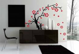 Flowers wall decal, Asian Tattoo Graphic home decorVia: Tattoodonkey 347