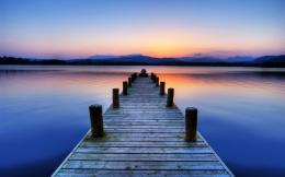 Wallpaper sunset, lake, jetty, Cumbria, Boat Jetty, Windermere, Lake 574