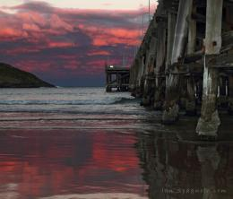 Red Cloud Sunset at Coffs Harbour Jetty | Ian Spagnolo Photography 1592