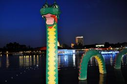 PanoramioPhoto of Lego sea dragon at Downtown Disney 1131